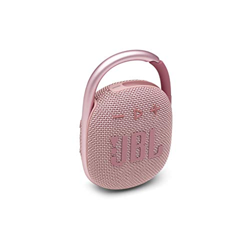 JBL Clip 4 - Portable Mini Bluetooth Speaker, Big Audio and Punchy bass, Integrated Carabiner, IP67 Waterproof and dustproof, 10 Hours of Playtime, Speaker for Home, Outdoor and Travel - (Pink)