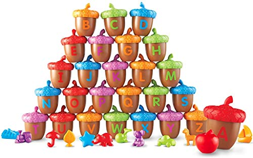Learning Resources Alphabet Acorns Activity Set, 78 Pieces, Homeschool, Visual & Tactile Learning Toy, Ages 3+