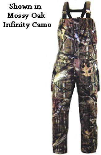 Rivers West Men's Ambush Heavyweight Waterproof Windproof Camouflage Fleece Hunting Bib, Realtree Xtra, Large