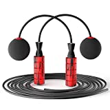 Weighted Jump Rope for Fitness, YoYoFit Cordless Skipping Rope Ideal for Workout Aerobic Exercise Home Gym MBF, Weighted Rapid Speed Jump Ropeless for Men Women Kids