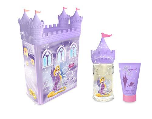 Disney Princess Coffret de Parfum/Gel Douche Version Château Tirelire Métallique Rapunzel 2 Unités