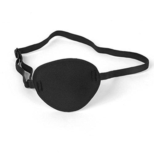 TOYANDONA Máscara Ocular Pirata con Parche en el Ojo para la ambliopía Ojo vago para Adulto (Negro)