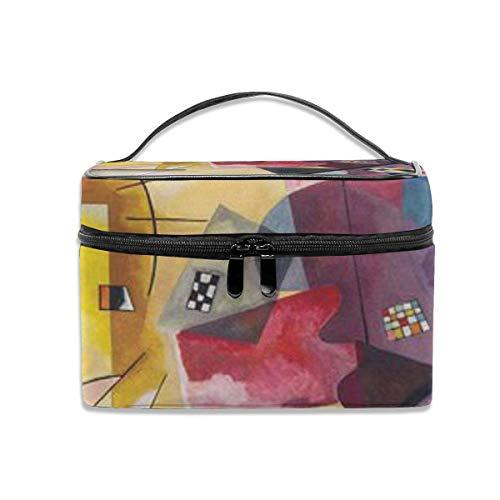 Jaune Rouge Bleu par Kandinsky Travel Cosmetic Case Organizer Portable Artist Storage Bag with, Built-in Pocket, Multifunction Case Toiletry Bags for Women