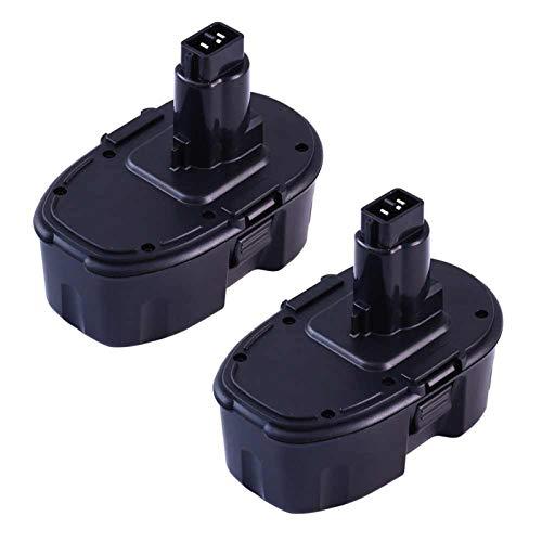 2Packs 4000mAh DC9098 Ni-Mh Replacement for Dewalt 18V Battery Compatible with Dewalt 18 Volt XPR DC9096 DC9099 DC970 DW9095 DW9096 DW9098 DW9099 DE9039 DE9095 DE9096 DE9098 Power Tools