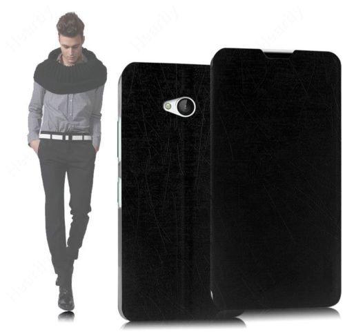 GoRogue Microsoft Nokia Lumia 550 Flip Cover - Leather Back Stand Case (Black)
