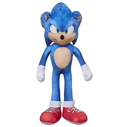 SONIC The Hedgehog - Jakks Movie - Plüsch Sprechender Sonic, 30 cm Figur, Kuscheltier mit Musik (Sound) 400312 schwarz