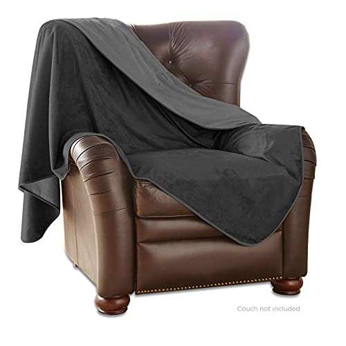 Medium Indoor Blanket by Mambe - Black Charcoal - Soft and Silky...
