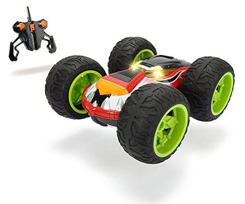 Dickie Toys RC Monster Flippy, RTR, Spielzeugauto mit Funkfernsteuerung, Rotations- und Flipfunktion, mit Licht, Hochleistungsgummireifen, Geschwindigkeit bis zu 10 km/h, ab 6 Jahren