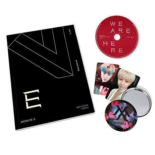 MONSTA X 2nd Album : TAKE.2 - We Are Here [ IV ver. ] CD + Photobook + Photocards + OFFICIAL POSTER + FREE GIFT / K-pop Sealed