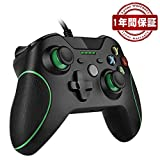 Xbox ONE コントローラー ゲームパッド有線 PC適応 RegeMoudal PC ゲームコントローラ有線 USB Windows PC (Xbox ONE、Xbox ONE X/S、XP、WIN7~10) 二重振動 人体工学 … (黒)