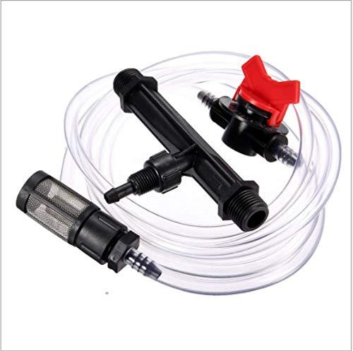 kungfu Mall Venturi-Dünger-Set, 1,27 cm (1/2 Zoll) Bewässerungsgerät, Wasserpumpenschlauch mit Filtersieb