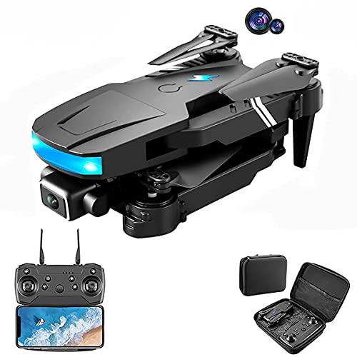 Drone con doppia fotocamera 4k, drone pieghevole per bambini e adulti, elicottero a quattro assi adatto per principianti, mantenimento dell'altezza, seguimi, ragazzo ragazza e regalo giocattolo per a
