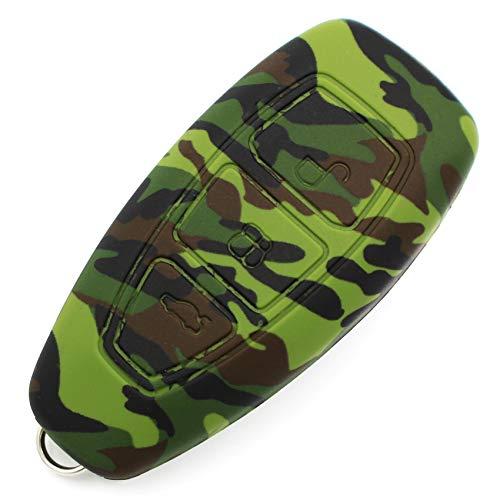 Coque en silicone Finest-Folia - Pour clé de voiture à 3 boutons camouflage
