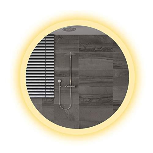 Household Necessities/wandspiegel LED badkamerspiegel anti-condens-licht spiegel woonkamer muur touchscreen gemonteerd spiegel rond zonder lijst 60*60CM Wit