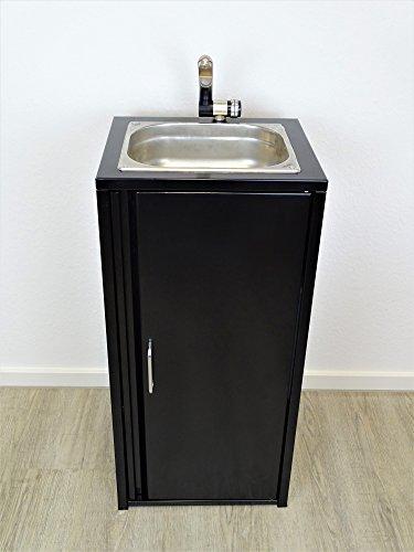 Lavabo portátil Negro Incluye fregadero de acero inoxidable/listo para usar/, Bomba sumergible,...