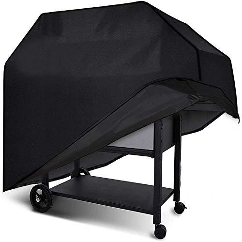BICASLOVE Funda para Barbacoa Impermeable,para Cubierta para Barbacoa 420D Oxford 145 * 61 * 117cm,Protector para BBQ Anti-Viento/UV/Impermeabilidad,(Negro)