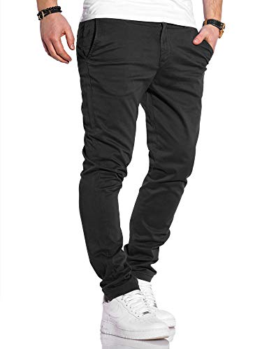 JACK & JONES Herren Chino Hose Chinos Herrenhose JJ Slim Fit (W30 L32, Black)