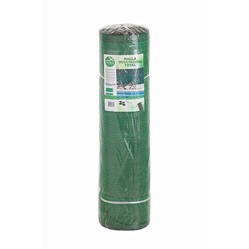 Catral 53010054 - Mini-rollo malla ocultación total, 100 x 1000 x 4 cm, color verde