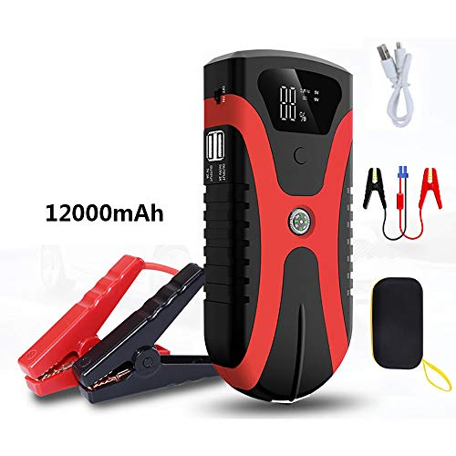 Best Prices! Car Emergency Starting Power Supply 650A Peak Current Car Power Bank 12V 12000 Mah Car ...