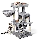rabbitgoo Rascador para Gatos Árbol para Gato 99CM Multi-Piso Rascadores con Nidos y Hamaca Grande Árboles Rascador para Escalar Centro de Juego con Percha de Felpa para Actividad y Relajante Gris