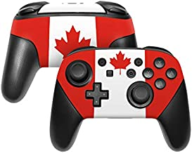 Canadian Flag Decalgirl Skin Sticker Wrap Compatible with Nintendo Switch Pro Controller