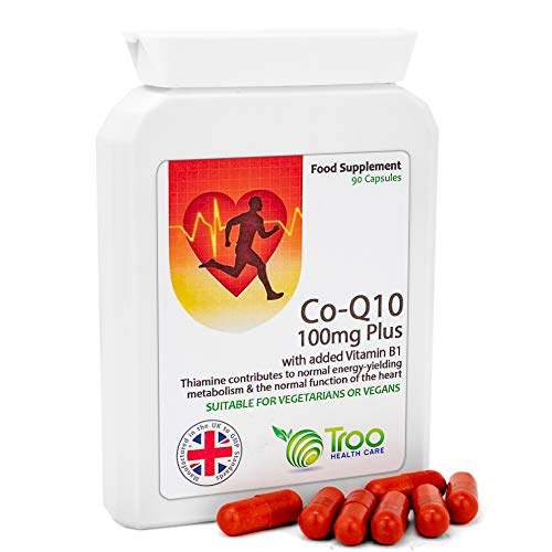 Co-Enzyme Q10 Supplement (CoQ10) - 100 milligrams 90 Vegetarian Capsules - Naturally Fermented Trans Form for High Absorption - UK Manufactured to GMP Standards