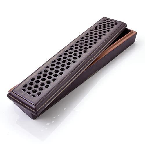 お香立て 線香立て 香炉 お香置き 線香皿 香炉 香皿 線香台 インセンスホルダー 横置き おしゃれ ステック【MONADICS】 (茶色(Type4))