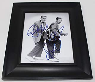 Simon & Garfunkel Tom & Jerry Paul Simon Art Garfunkel Signed Autographed B/W 8x10 Glossy Photo Gallery Framed Loa