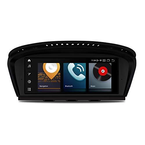 KAUTO Autoradio 8,8 Pollici Android 10 GPS Navi Octa Core 4 GB RAM 64 GB Rom CarAutoPlay Integrato con Sistema iDrive mantenuto Supporta TPMS WiFi DVR per BMW Serie 3 Serie 5 E90 E60 (Sistema CCC)