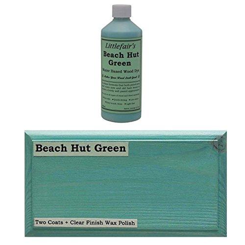Littlefairs umweltfreundliche wasserbasierte Holzlasur und Farbe - Pastell-Kollektion (500ml, Strandhütte grün)
