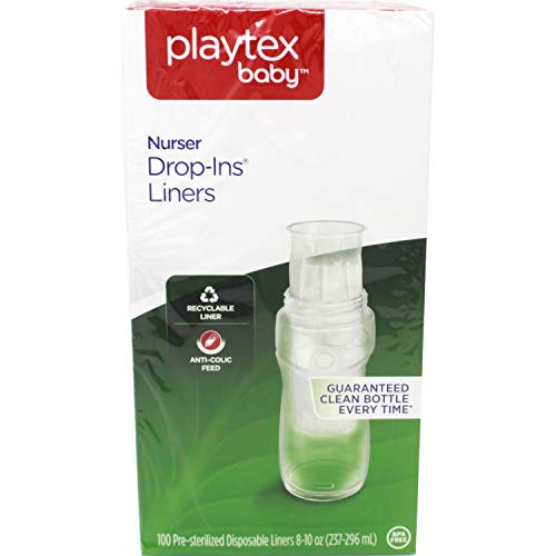 Price comparison product image Playtex Nurser Drop-Ins Liners,  100 Eight Ounce Disposable Liners each (Pack of 6)