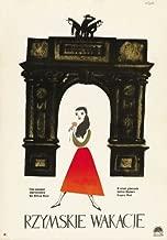 Pop Culture Graphics Roman Holiday Poster Movie Polish 11x17 Audrey Hepburn Gregory Peck Eddie Albert Tullio Carminati