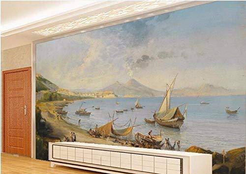 Mural de papel pintado Paisaje del muelle Fotomurales murales pared papel para pared foto 3D mural pared Salón Dormitorio decoración de paredes moderna 250X175 cm