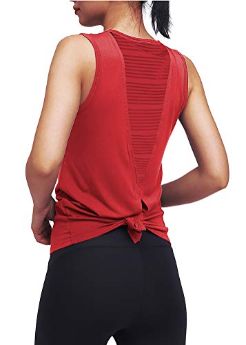 Workout Tops for Women Open Back Exercise Gym Yoga Shirts Athletic Tank Tops Gym Clothes