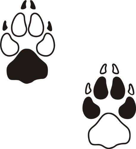 der-pferdeshop XL Hundeaufkleber Hundepfote mit Wunschtext fürs Auto HP7 (25cm)