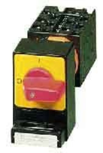 Eaton 044973 Panikschalter, 3-polig, 20 A, Vorhängeschloss-Sperre Svc, Frontschild 0-1, 90 °, Rastend, Einbau, P
