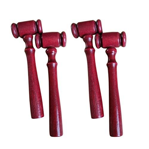 Kisangel 5 Piezas de Mini Martillo de Madera Martillo de Fallo Bloque de Sonido Martillo de Justicia Accesorios para Niños