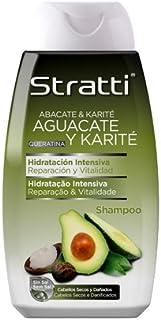 Stratti Aguacate - Champú Reparación y Vitalidad con Keratina sin Sal - 400 ml
