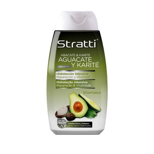 Stratti Aguacate - Champú Reparación y Vitalidad con Keratina, sin Sal - 400 ml