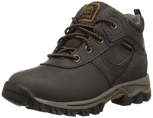Timberland MT Maddsen Mid Waterproof Chukka Mid, Dark Brown, 6.5 M US Big Kid