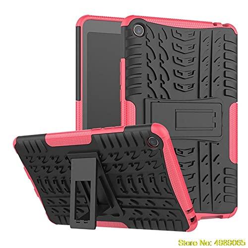 para Xiaomi MI Pad 4 MIPAD4 8 MI PAD4 MIPAD 4 8.0 PULGO Cubierta DE Tabla DE Tabla Hybrid Hybrid Kids Stand DESPORTE DESPORTE PEODO 2 EN 1 Hard PC Volver Caja-Rosa roja