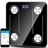 Weight Scale Body Fat Scale Bluetooth Smart Digital Wireless Bathroom Scale Composition Monitor Analyzer, USB Rechargeable ,Smartphone APP,LCD Backlit Display…