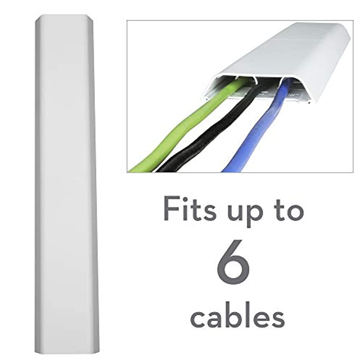 OmniMount OCM On-Wall Cable Management Covers, Paintable, Flat Design to Conceal up to 6 Cables, Set of Three, 3.25