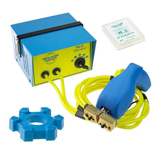 Profilschneider PS15 + 1 Packung R3 7-13mm (20 Schneidemesser) Made in France Nachschneidegerät 230V Langes Kabel CE GEPRÜFT Nachschneiden Reifenprofill