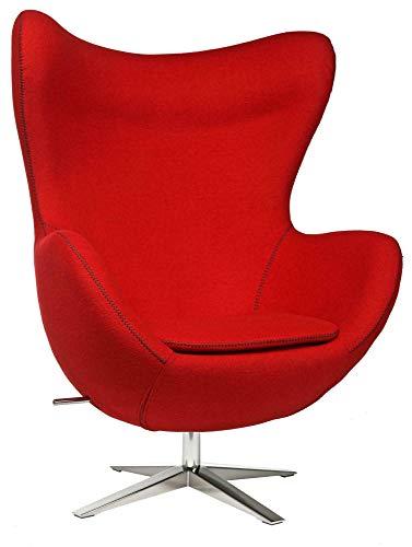 Shumee - Sillón cómodo y moderno con estructura de diseño. El sillón giratorio se compone de lana sintética