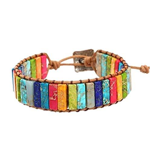7 Chakra Bracelet Adjustable Bohemian Jewellery Braided Bracelets Handmade Chakra Stone Healing Crystal Jewelry for Womens Girls Jewelry