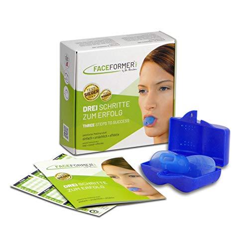 FaceFormer blau • Effektiv bei Schnarchen, Schlaf-Apnoe, Zähneknirschen, CMD, Schmerzen u.v.m. • Original Dr. Berndsen • (Box blau)