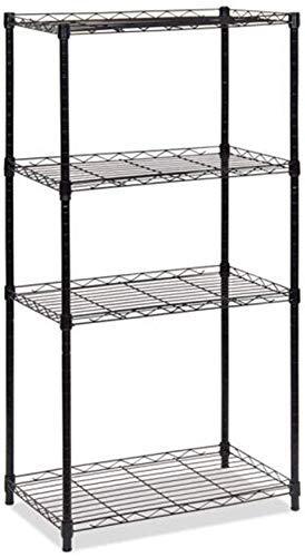 ZYL-YL Malla de almacenamiento estantería simple conjunto de estantes de metal 4ª planta cocina Landing Incorporated marco de vivir Microondas sala de horno de almacenamiento en rack rack de acabado I