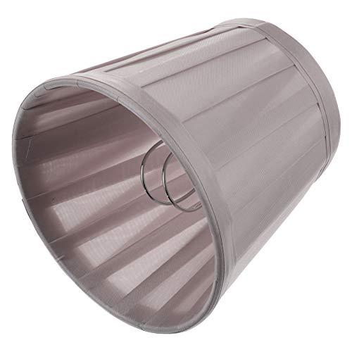 SOLUSTRE Plata Gris Barril Lámpara Sombra Clip en La Pantalla de La Lámpara Estilo Europeo Candelabro Pantalla Accesorio Tela Mesa Suelo Lámpara Sombra Accesorio Cubierta de Tela