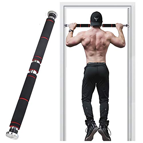 GREFIC Barre de Tractions, Réglable Pull Up Bars, Mural Barre de Musculation, 180 KG Charge Max, Sport Maison Materiel Appareil, Exercice Abdominale Fitness Sit Up Bar, Abdos Musculation Kit